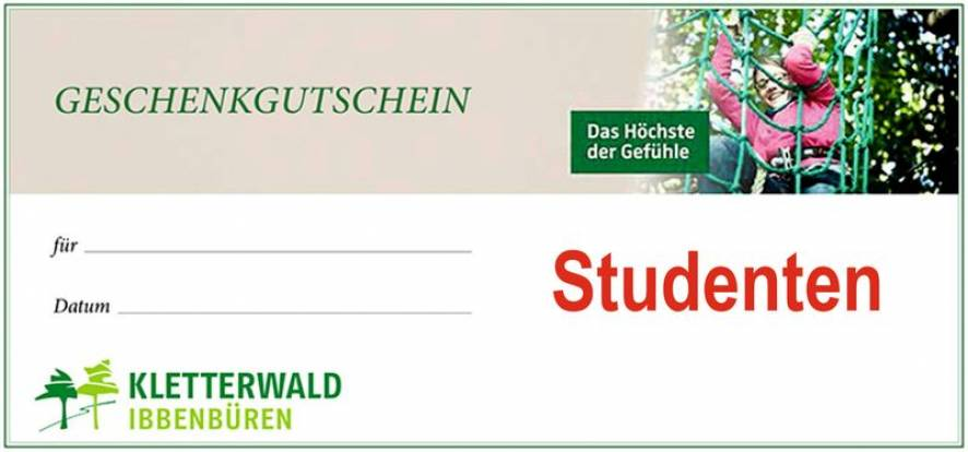 Gutschein für Studenten, Schüler u Rentner > ab 60 J.(nur gegen Ausweis)